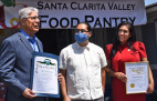 Ceremony celebrates SCV pantry for community service during pandemic