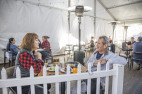 The city will phase out temporary outdoor dining two months after the indoor capacity limit ends