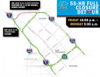 The driver advised finding an alternate route as Caltrans announced the complete weekend closure of WBI-210 at I-5.