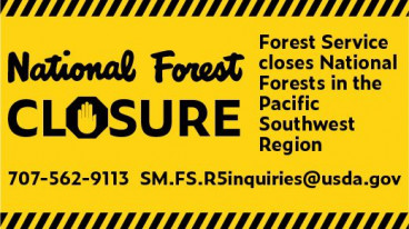 USDA Forest Service Officials Announce Temporary Closures of All California National Forests for Public Safety