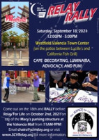 Sept. 18: American Cancer Society's Relay Rally