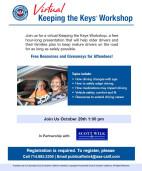 Oct. 29: Workshop Scheduled for Senior Drivers