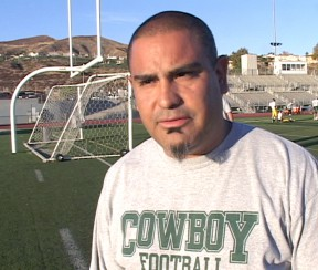 Canyon head coach Rich Gutierrez