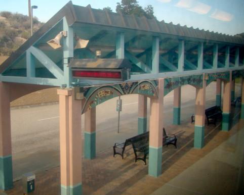 Santa Clarita Metrolink Station platform