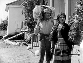 "Mary Pickford in the title role (with Henry B. Walthall  as Allesandro) in D.W. Griffith's production of ""Ramona,"" shot over two days in 1910 at Rancho Camulos in the Santa Clara River Valley."