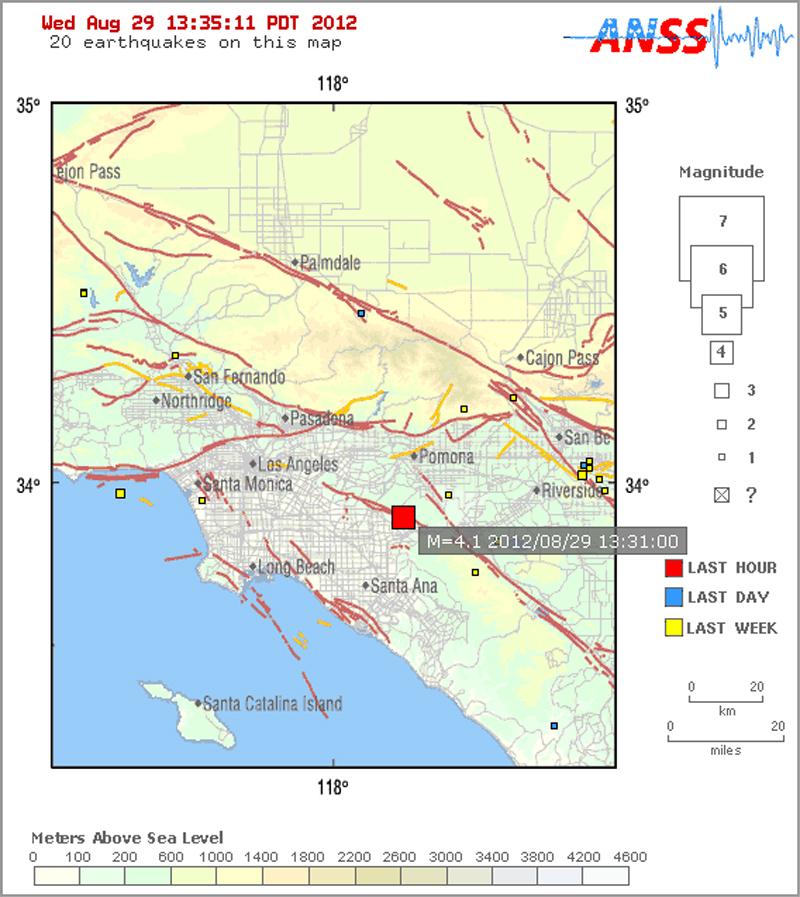 SCVNews.com | 4.1-Magnitude Earthquake Hits Yorba Linda ...