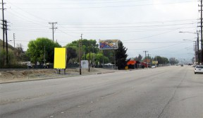 A CBS Outdoor billboard (in yellow) on Bouquet Canyon Road south of Bouquet Junction.