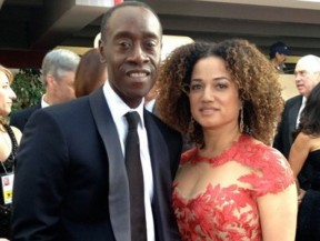 Golden Globe winner Don Cheadle (CalArts 1986) with partner Bridgid Coulter