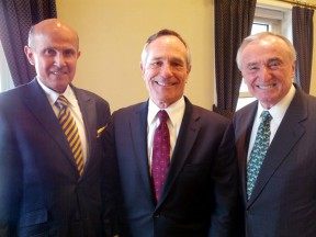 From left: Los Angeles Sheriff Leroy D. Baca; U.S. Department of Homeland Security Assistant Secretary Alan Bersin; former LAPD Chief of Police and NYPD Commissioner William Bratton