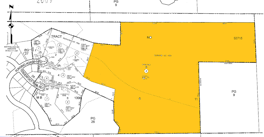 Large parcel next to the city's current Golden Valley Open Space.
