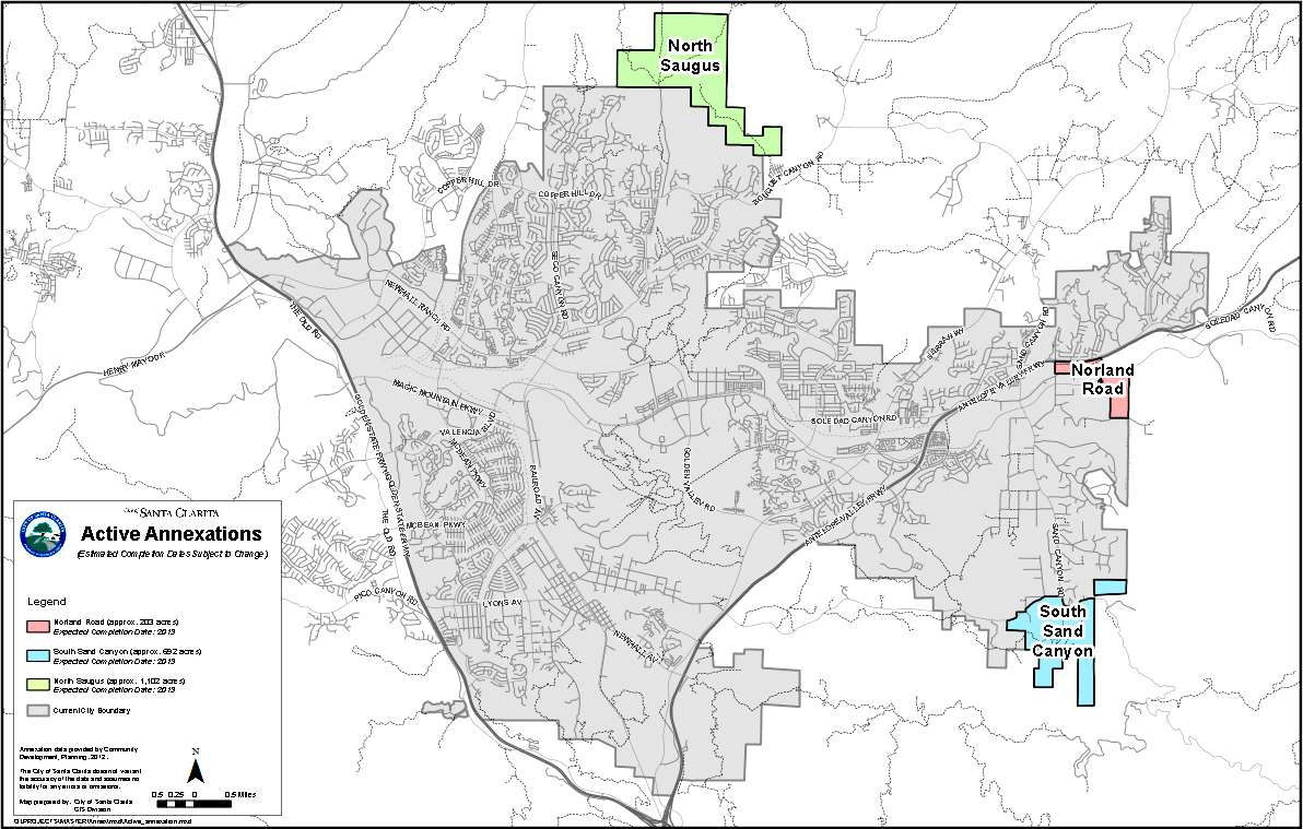 Map of pending annexations