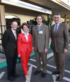 Celebrating the grand opening of Children's Hospital Los Angeles -- South Bay are: (l-r) Robert Adler, MD, MSEd; Cathy Siegel Weiss, Co-chair, Children's Hospital Los Angeles Board of Trustees; Pediatric Urologist Paul Kokorowski, MD, of Manhattan Beach; and Richard D. Cordova, FACHE, president and CEO of Children's Hospital Los Angeles.