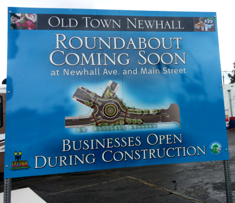 roundabout-newhall-sign