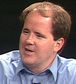 Richard Cook at SCVTV in 2003, shortly before the landing of the Spirit rover.