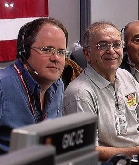 Cook and JPL chief Charles Elachi at Curiosity's launch in 2011.