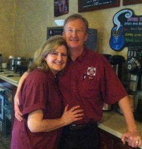 Butler's Coffee owners Pam and Dave Logan.