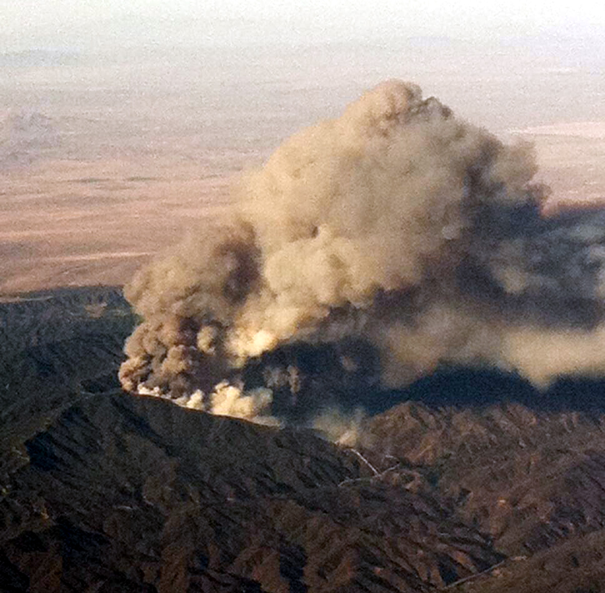 View from a Southwest flight (Photo: CAL FIRE)