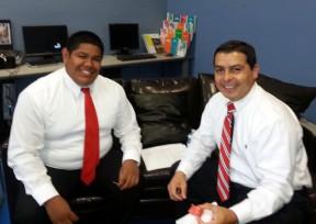 Assistant City Manager Frank Oviedo (right) with a P.O.W.E.R. program participant.