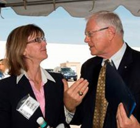 Burbank Mayor Emily Gabel-Luddy with Supervisor Antonovich at Friday's groundbreaking ceremony.