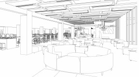 Sketch of the upcoming Learning Commons. CSUN/Oviatt LIbrary.