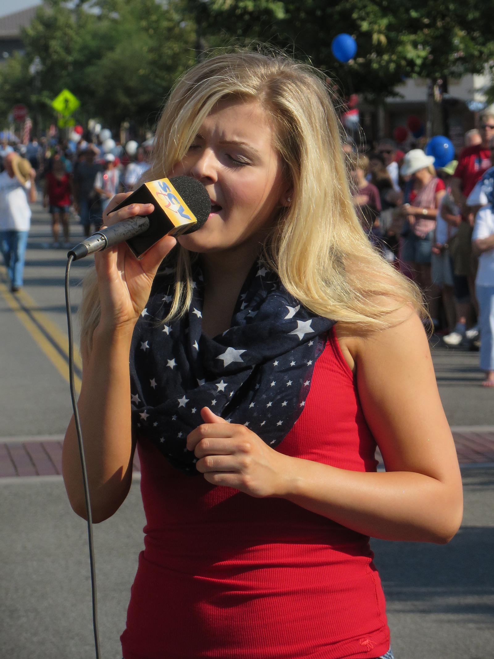Heather Kate Duncan sings The Star Spangled Banner.