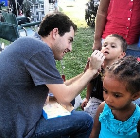 Face painting at Concerts in the Park. Photo: KHTS