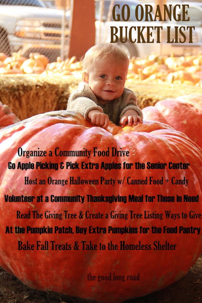 fall bucket list goes orange