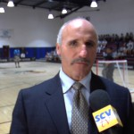 Former LA King Daryl Evans spoke to kids at Sierra Vista Junior High about being physically active Wednesday.