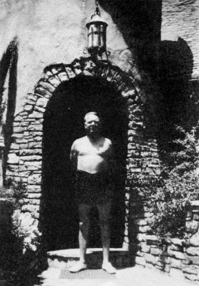 W.C. Fields at home on 8th Street, Newhall. Click image for more.