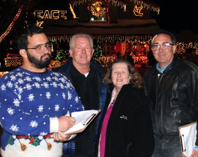 The judges: Jesse McClure, Jim Walker, Michele E. Buttelman and Carl Goldman on Ash Court in Saugus.