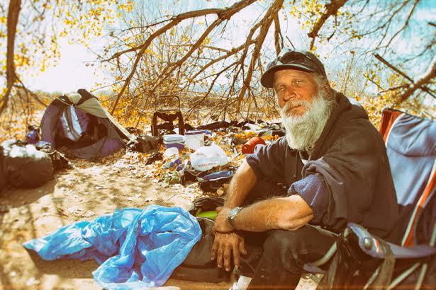 homeless man in Santa Clarita
