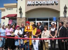 File photo: A 2009 grand opening at the Plaza at Golden Valley.