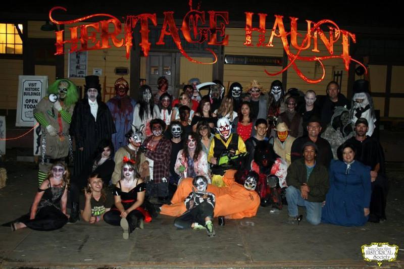 Last October's Heritage Haunt crew.