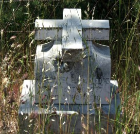 Margaret Routledge's grave marker. She's buried in Jolon, Monterey County, where her relatives lived.