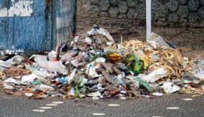 futuristic plastic trash on street 7132