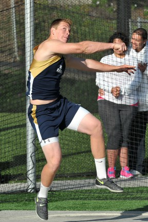 Nathan Bultman of West Ranch placed sixth in the shot put.
