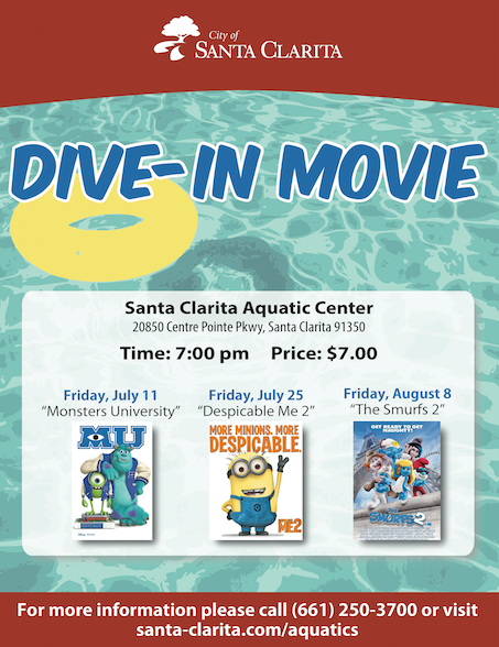 Dive in summer movies at aquatic center 07 09 2014 - Dive in movie ...