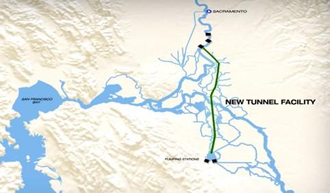 Sacramento River Delta tunnel project
