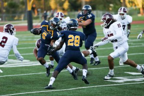 Tim White caught seven passes for 113 yards and a touchdown in the Cougars 42-19 loss to Mt. SAC.