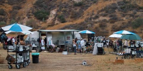 Filming in Santa Clarita