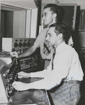John Palladino, top, and Val Valentine were engineers at Radio Recorders in Hollywood in the 1940s. Photo: Courtesy Palladino-Blanchard Family.