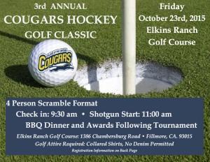 Cougars Hockey Golf Registration 2015