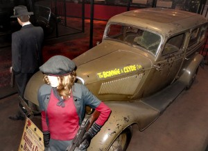 Bonnie and Clyde's death car at Whiskey Pete's in Primm, Nev. Photos: Leon Worden.