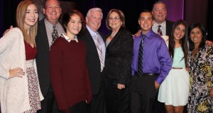 Elizabeth Hopp, center, and her family, at the Zonta Club of SCV Tribute to Women 2015. Photo by Michele E. Buttelman.