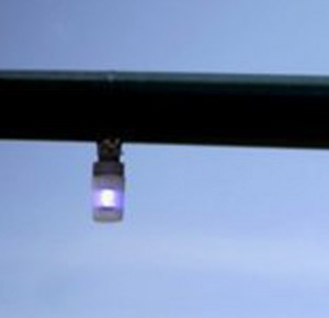Visible from all angles, the blue light lets deputies know when the light on the other side of the pole has turned red.