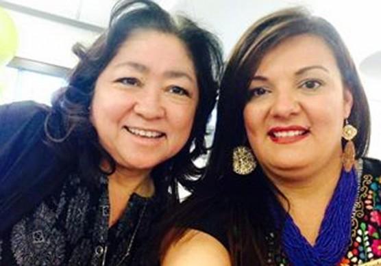 Susie Cordova of City of Santa Clarita with Key-note Speaker Amber Martinez of Comfort Keepers