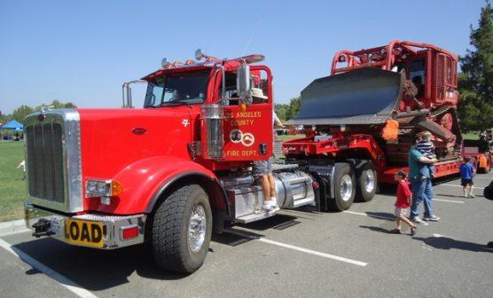 fire bulldozer