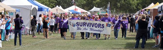Cancer survivor group at Relay for Life SCV