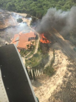 (From Toni Sanna): My house in Agua dulce. They are doing such a good job protecting it. Thank you firefighters!