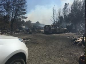 sand canyon car death fire